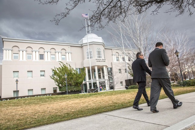 Benjamin Hager/Las Vegas Review-Journal The Nevada Legislature Building in Carson City. Assemblywoman Heidi Swank, D-Las Vegas, chairwoman of the Natural Resources, Agriculture and Mining Committe ...