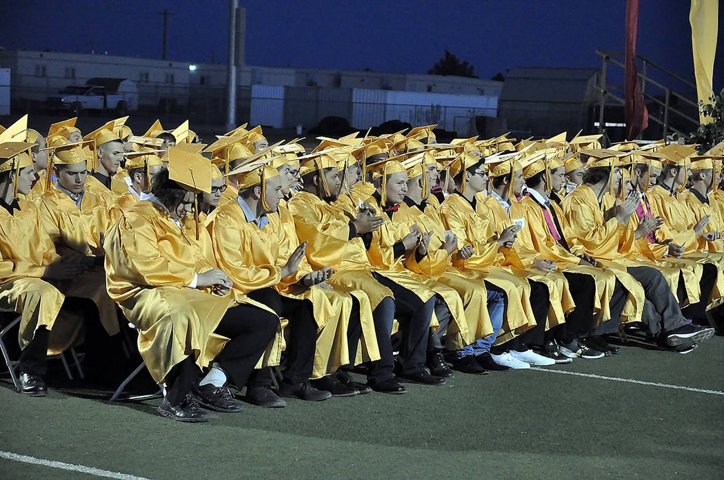 Horace Langford Jr./Pahrump Valley Times  A look at at the Pahrump Valley High School Class of 2017 as shown at graduation ceremonies on May 26.