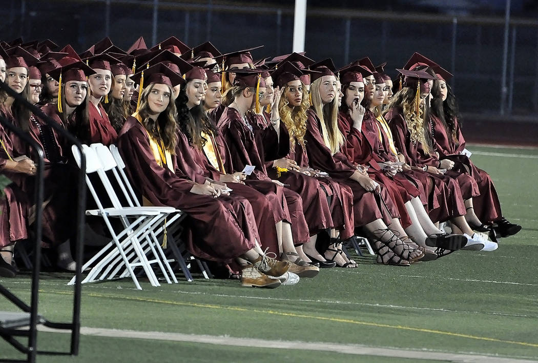 Horace Langford Jr./Pahrump Valley Times  The graduating Class of 2017 at Pahrump Valley High School.