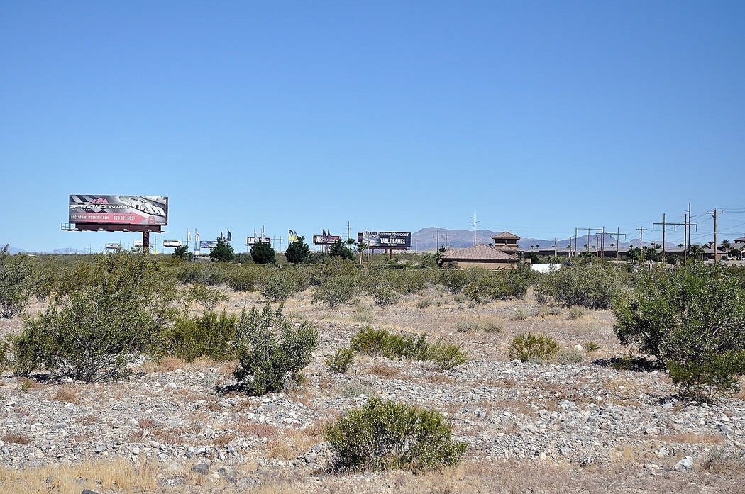 Horace Langford Jr./Pahrump Valley Times  Spring Mountain Motor Resort and Country Club already has the land set aside, seen above, for the new expansion which will include restaurants, a theater, ...