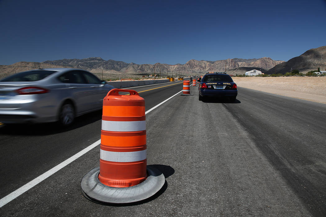 Special to the Pahrump Valley Times he improvements to the five-mile stretch of State Route 160 included flattened side slope shoulders for safer vehicle turnouts, new drainage pipe and tortoise f ...