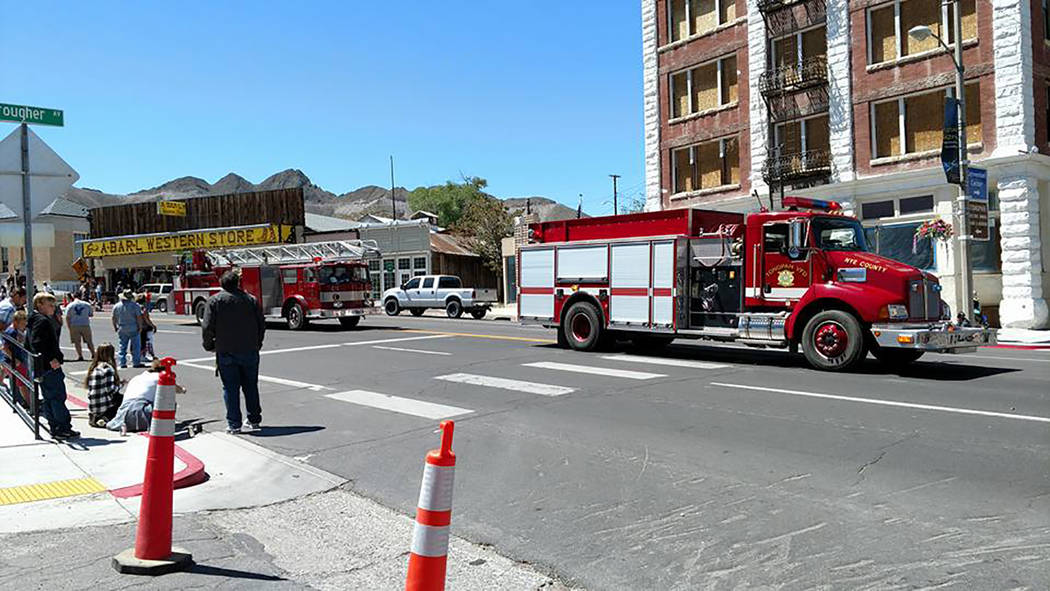 Melissa Roberts/Times-Bonanza The local fire department took part May 27 in the annual Jim Butler Days parade down Main Street in downtown Tonopah as part of Jim Butler Days. The special event cel ...