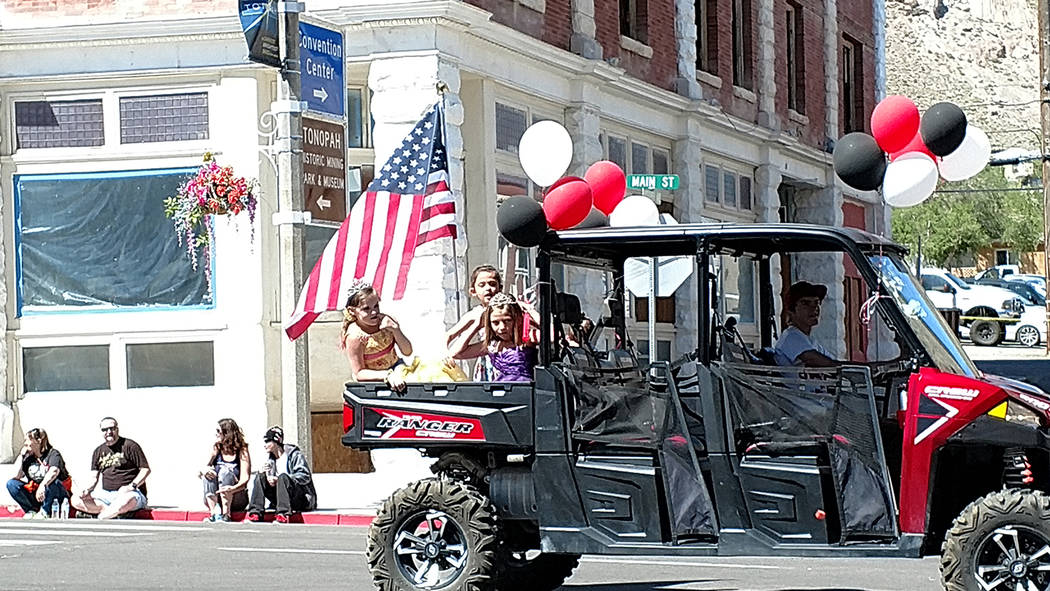Melissa Roberts/Times-Bonanza An ATV, which displays the American flag, moves down Main Street on May 27 in downtown Tonopah. The parade is part of the Jim Butler Days celebration. Butler Days cel ...