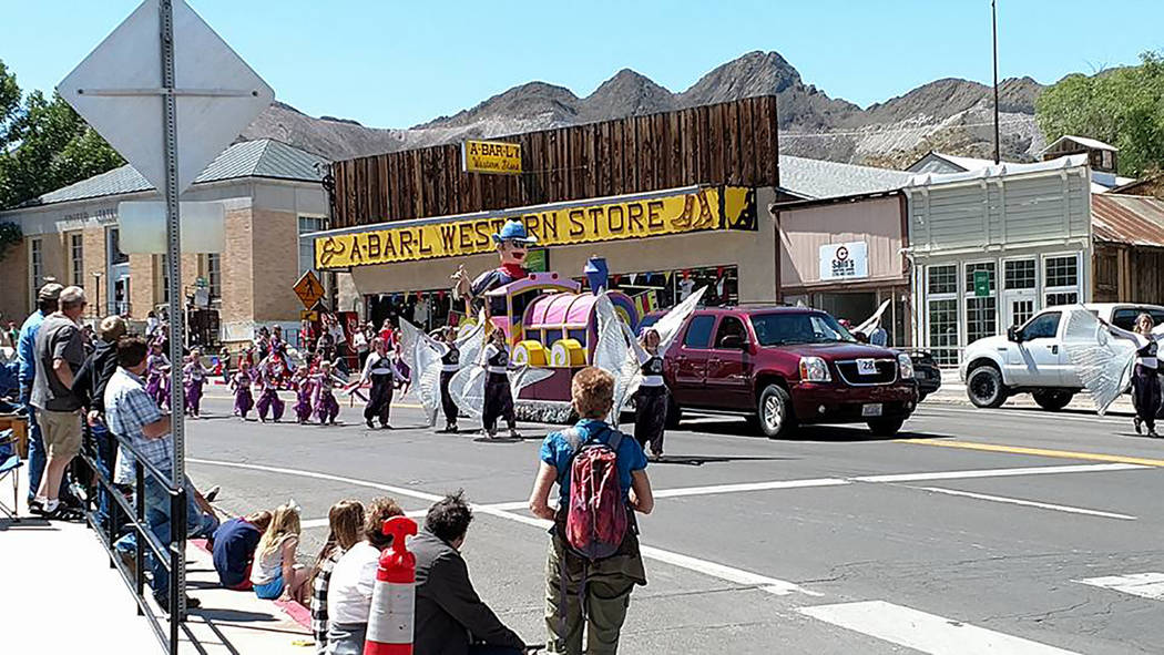 Melissa Roberts/Times-Bonanza The Hasana-Tribal fusion dancers are shown during the parade in the downtown parade on May 27 during Jim Butler Days. A performance by Hasana group members is an annu ...