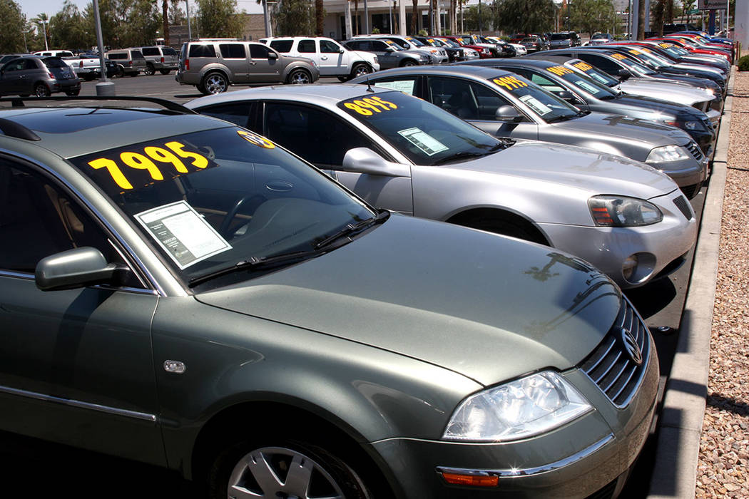 Auto sales contributed to gains in March taxable sales in Nevada. (Las Vegas Review-Journal)