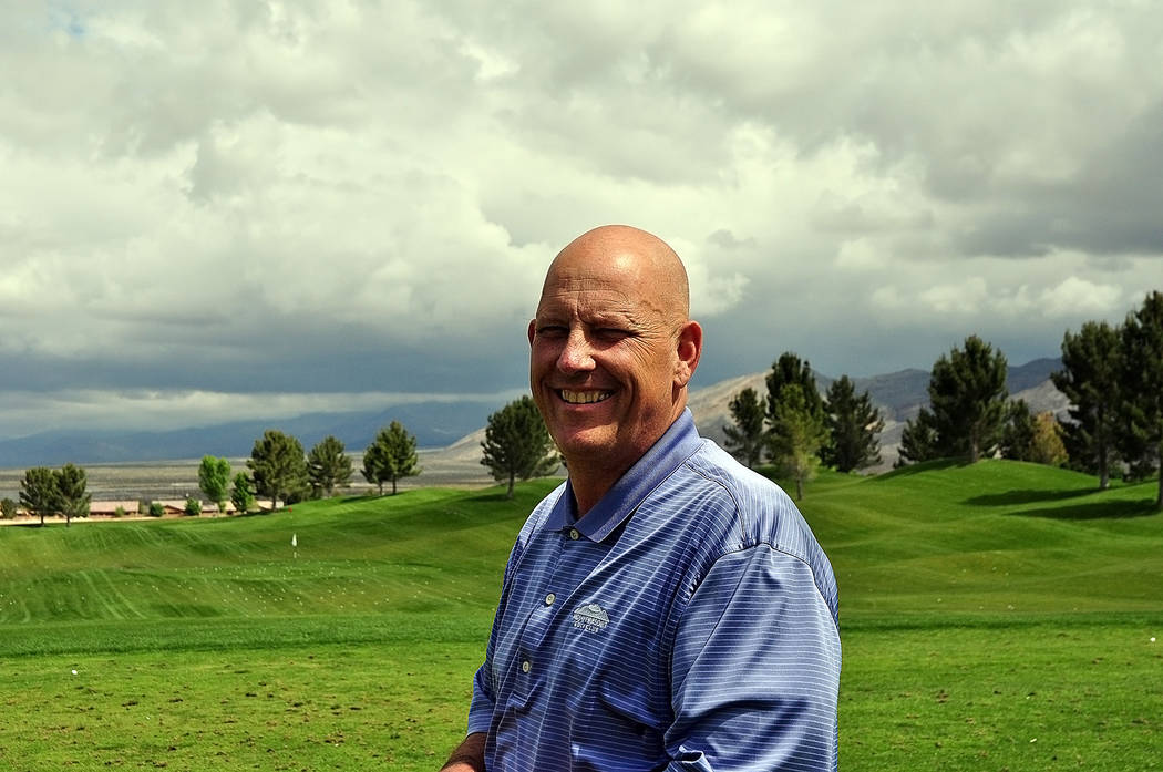 Horace Langford Jr./Pahrump Valley Times  Golf professional at Mountain Falls Randy Mudge. Mudge has brought in more than just golf activities to Mountain Falls, from music at the Grill Room, to p ...