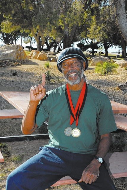 Horace Langford Jr*/ Pahrump Valley Times - Senior Athelete Marvin Caperton turns 64 in the fall.