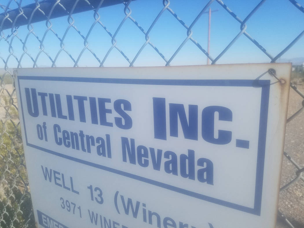 David Jacobs/Pahrump Valley Times Great Basin Water Company, formerly known as Utilities Inc. of Central Nevada, filed an application with the Public Utilities Commission of Nevada. The company se ...
