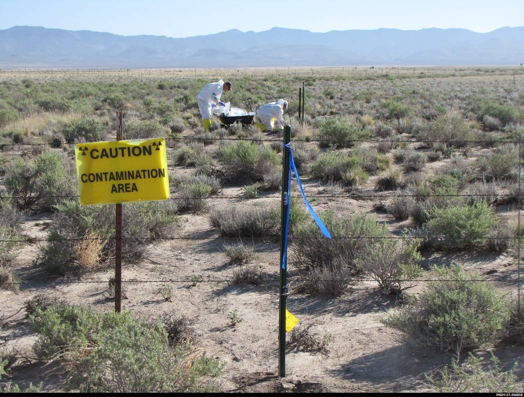 Special to the Pahrump Valley Times The U.S. Department Energy Department's environmental management Nevada Program has conducted clean-up activities at the Tonopah Test Range since 1996.