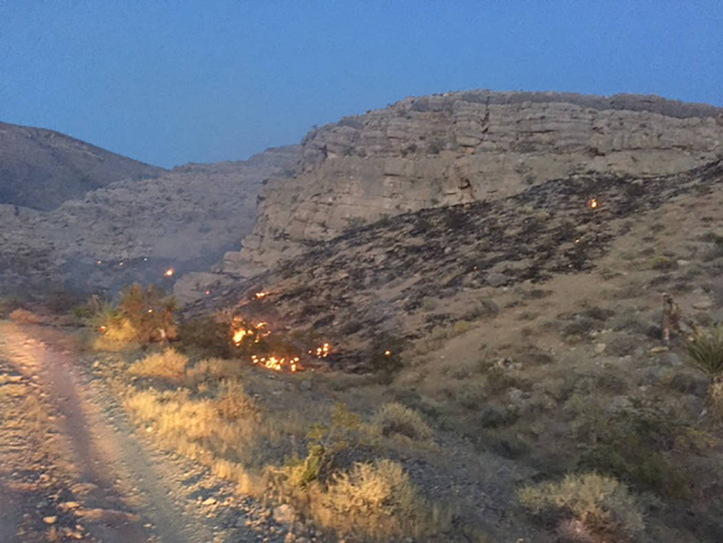 Pahrump-area fire crews respond to numerous fires