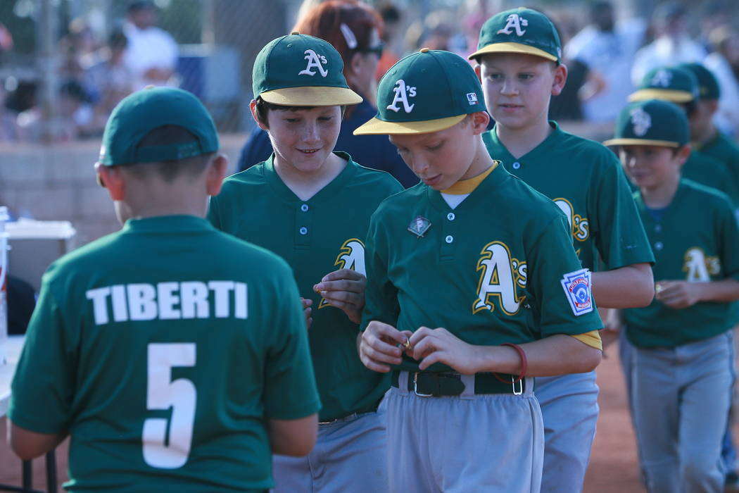 Special to the Pahrump Valley Times Congrats to the P-Town Minor League A's, seen above at the Little League closing ceremonies. The P-Town Minor League champions went to the third round in a to ...