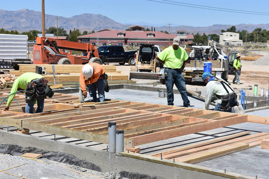 Daria Sokolova/Pahrump Valley Times The construction of Jack in the Box is underway in Pahrump with the foundation and utilities already in the ground as shown in this Wednesday photo. Daryl Koepn ...