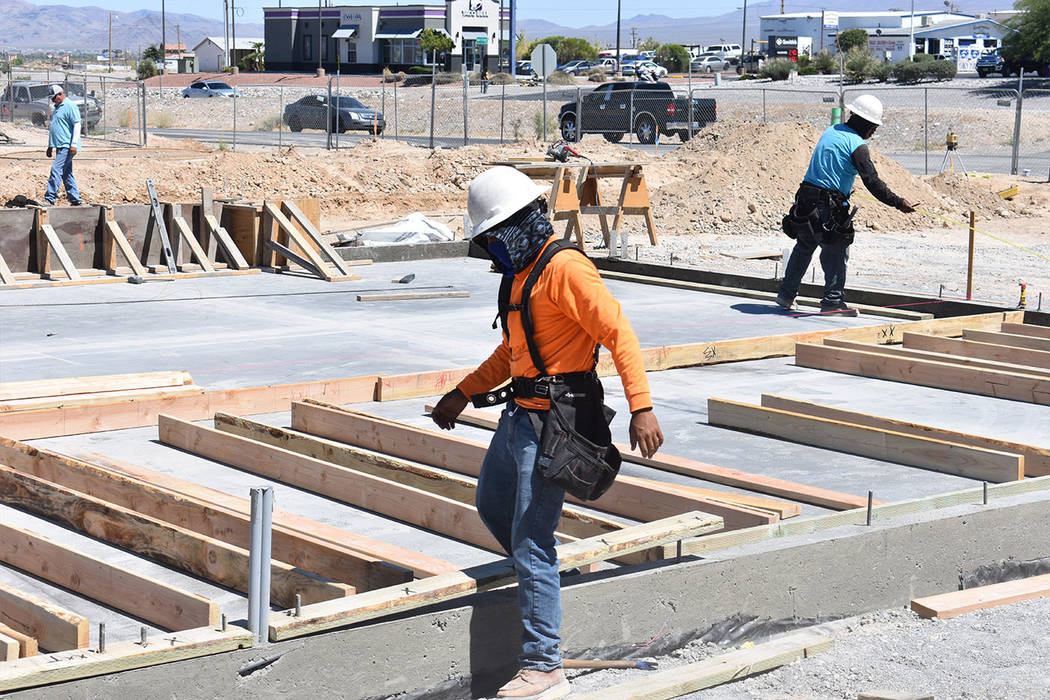 Daria Sokolova/Pahrump Valley Times The construction of the first Jack in the Box has been going on for about a month, and officials said it will be completed mid-August when it will be turned ove ...