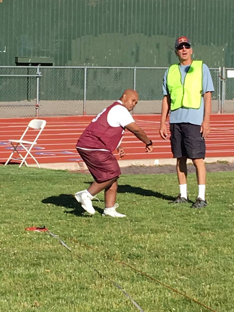 Michael Turrin gets ready to throw the softball at the Special Olympics Reno Summer Games, which were on June 9-10.