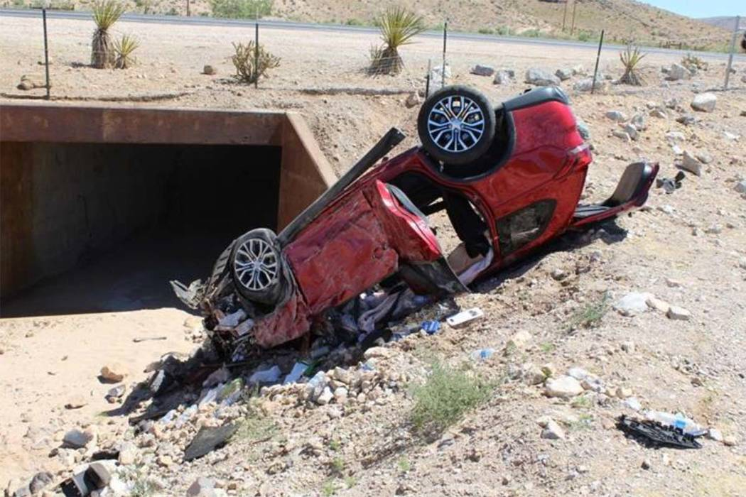 Nevada Highway Patrol The Nevada Highway Patrol is investigating a rollover wreck that killed one woman and injured three other people on Nevada Highway 160 near Red Rock Canyon, west of Las Vegas ...