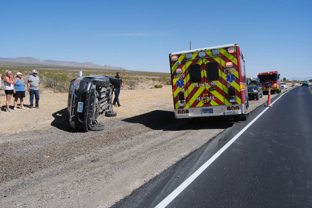 Special to the Pahrump Valley Times  A single-vehicle rollover accident prompted the response of emergency crews on Saturday afternoon in the area of Highway 160 and Desert Trails. The driver was  ...