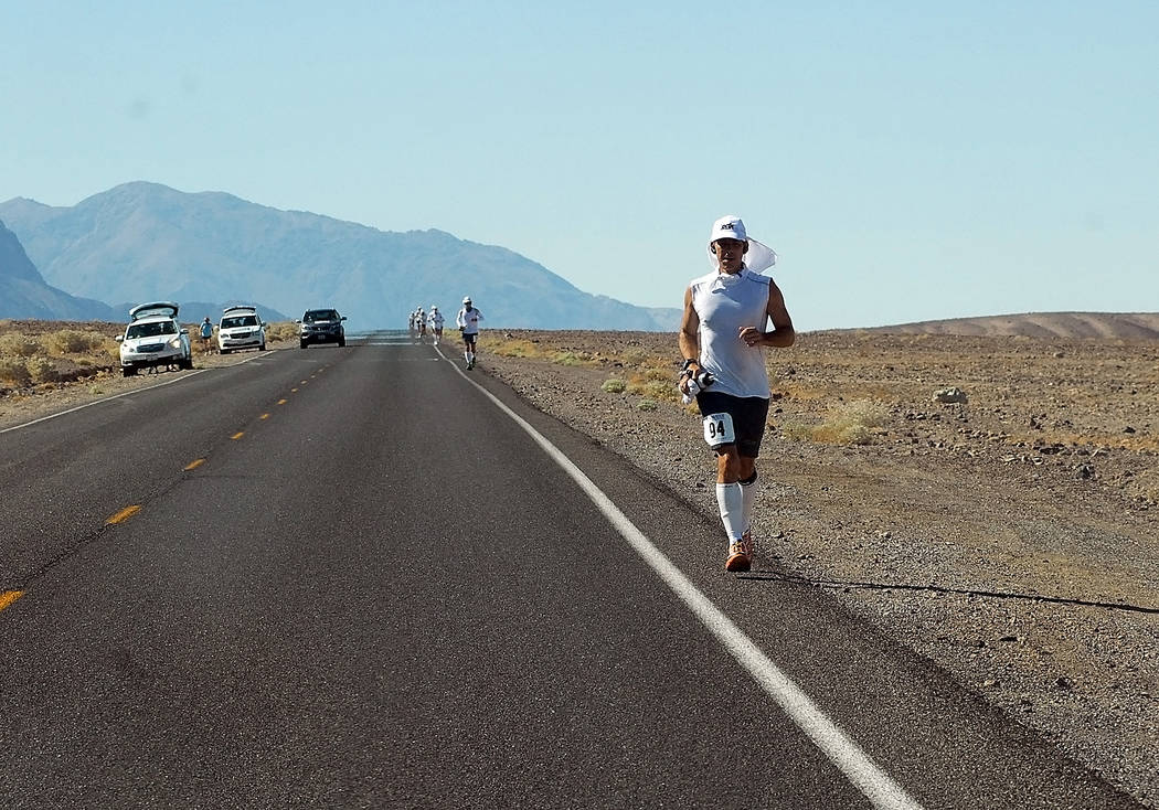 Horace Langford Jr./Pahrump Valley Times The temperatures for this year's annual Styr Labs Badwater 135 Ultramarathon in Death Valley should be around 120 degrees. The morning temperature at 10: ...