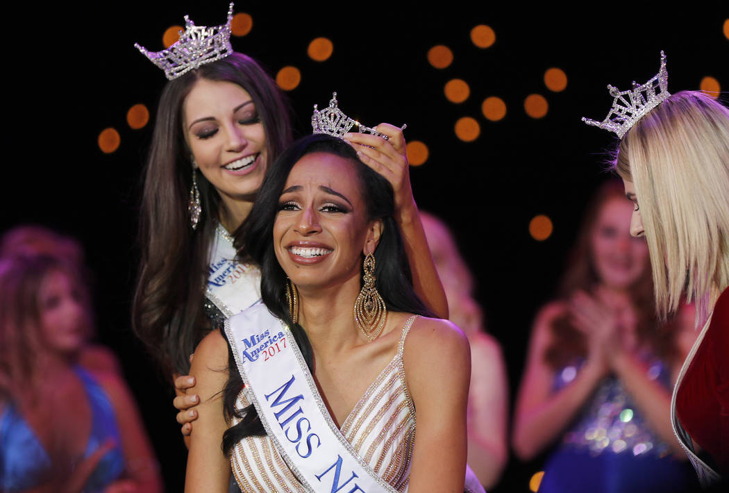 Morgan Lieberman Las Vegas Review-Journal Andrea Martinez is crownedMiss Nevada 2017 by Miss Nevada 2016 Bailey Gumm at the Tropicana hotel-casino in Las Vegas on Friday, June 1, 2017.