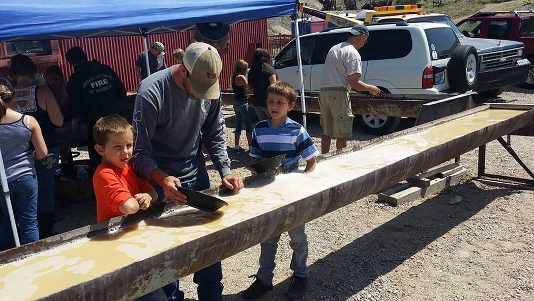 David Jacobs/Pahrump Valley Times Gold panning is shown during the 2016 Jim Butler Days that pay tribute to the community's mining heritage.