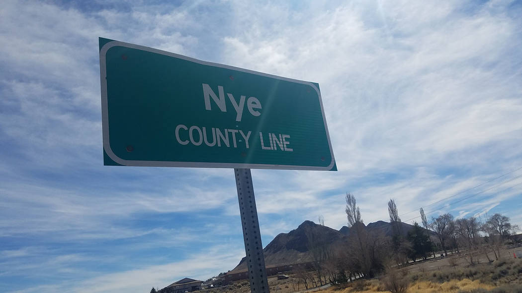 David Jacobs/Pahrump Valley Times Nye County has been the site of the discovery of a number of other large important mineral deposits, including those at Tonopah, Manhattan and Round Mountain.