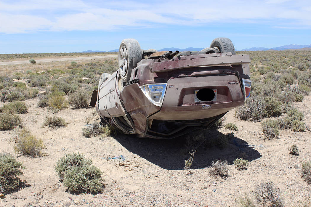 Nevada Highway Patrol One of the occupants was pronounced dead at the scene, and the other was transported via helicopter to a hospital in Las Vegas where she later died from her injuries, the Nev ...