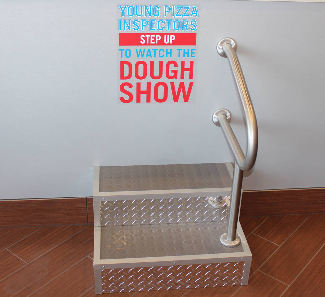 """Jeffrey Meehan/ Pahrump Valley Times Kids can step up and watch the """"dough show"""" at the Dominos Pizza at 350 Highway 160, Ste. 6."""