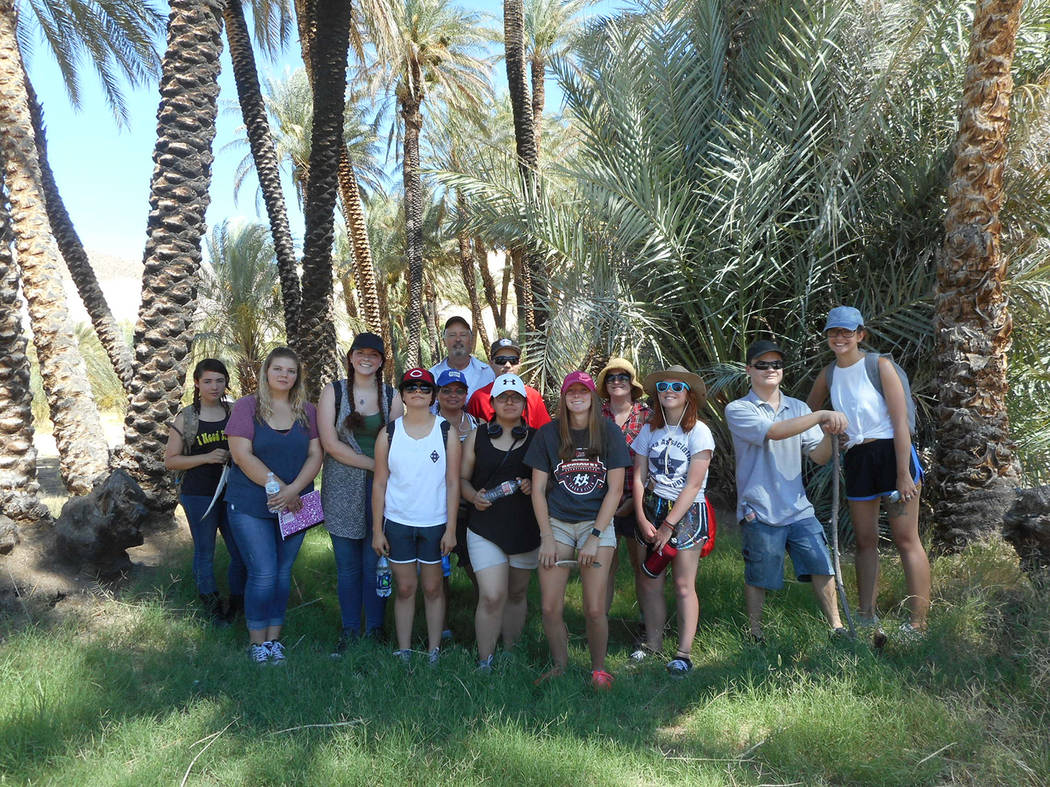 Robin Flinchum/Special to the Pahrump Valley Times Young people visit China Ranch as part of the Mojave School summer writing workshop. Guidance was provided by master storytellers Claire Vaye Wat ...