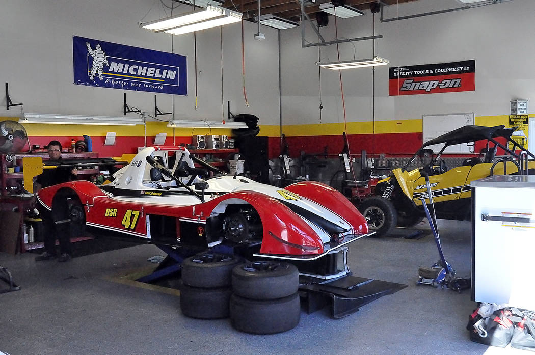 Horace Langford Jr./Pahrump Valley Times - Spring Mountain Motor Resort provides a full-service garage for all its clients and members. Members can have their racecars maintained at the highest st ...