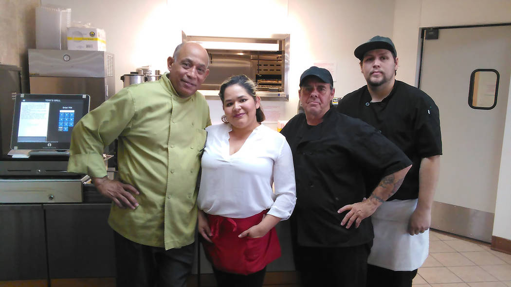 Selwyn Harris/Pahrump Valley Times  Chef Tony Nunez, left, with 30-plus years experience, stands alongside his staff at the newly opened Tony's Grill at 2610 North Blagg Road. The restaurant whi ...