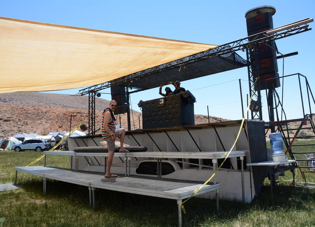 Richard Stephens/Special to the Pahrump Valley Times Syncro, the music sound stage at the Southern Nevada Regional Gathering.