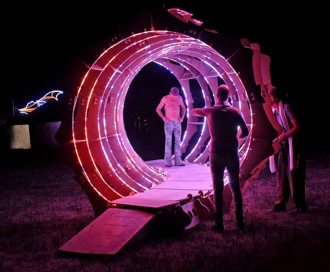 Richard Stephens/Special to the Pahrump Valley Times The Portal, one-sixth of the one used at Burning Man at at the Southern Nevada Regional Gathering..