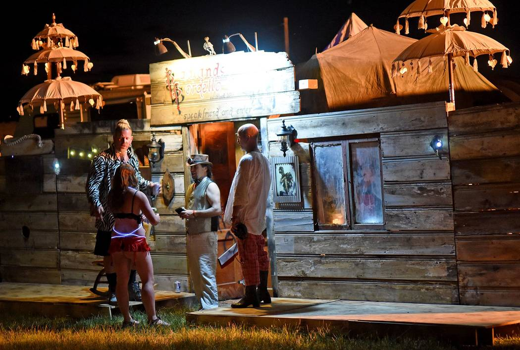 Richard Stephens/Special to the Pahrump Valley Times A Steam Punk themed bar in the theme camp area at the Southern Nevada Regional Gathering..