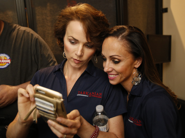 Richard Brian/Las Vegas Review-Journal Amy Tarkanian, left, is shown in a 2016 photo with a friend, Jamie Brashaw, in Las Vegas. Tarkanian is a strong supporter of President Donald Trump and revel ...