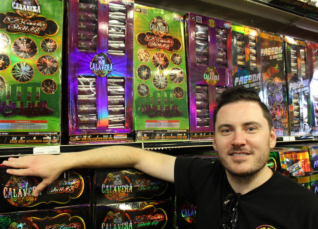 Photo by Jeffrey Meehan/Pahrump Valley Times Doug Burda, owner of Red Apple Fireworks at 3610 Highway 160, stands for a photo at his retail store on June 20, 2017.