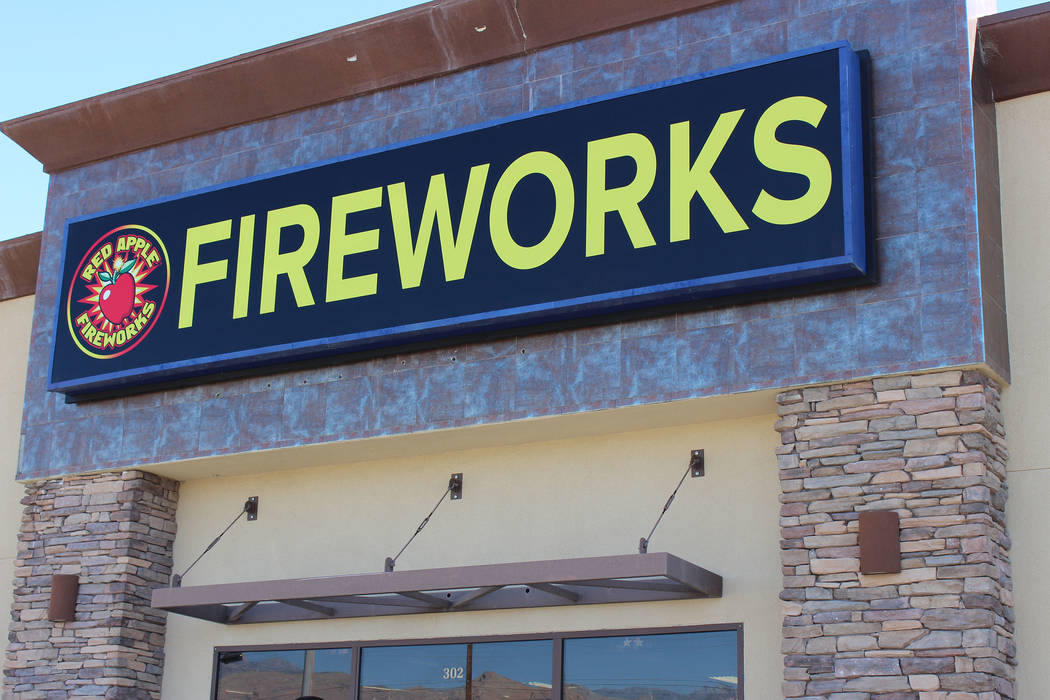 Photo by Jeffrey Meehan/Pahrump Valley Times Signs installed at Apple Fireworks's new 9,000-square-foot space at New Pahrump Professional Center at 3640 Highway 160, Ste. 303. The site is adjacent ...