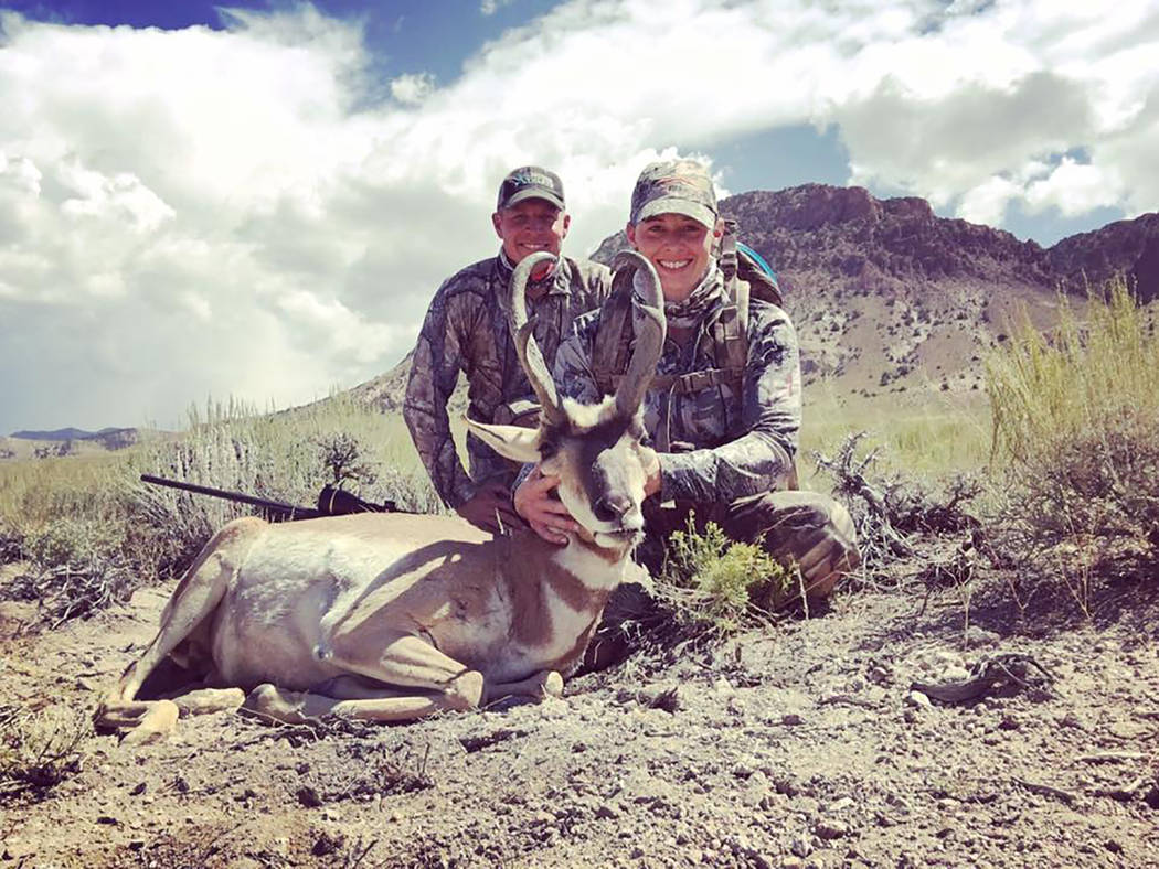 Dan Simmons/Special to the Pahrump Valley Times  Ben and Amanda Arata following a well-planned hunt. The physical and mental experience ties us to our past, the tradition and culture we share with ...