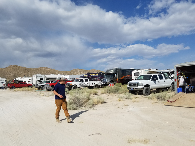 David Jacobs/Pahrump Valley Times  Tonopah's population swelled temporarily on Aug. 19 and Aug. 20 of 2016 with thousands staying overnight in Tonopah for the Best in the Desert Vegas to Reno off- ...