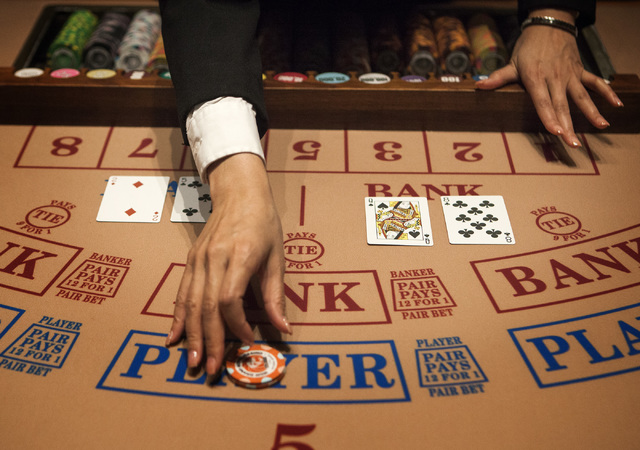 Las Vegas Review-Journal file A baccarat table at The Mansion at MGM Grand is seen Friday, July 25, 2014.
