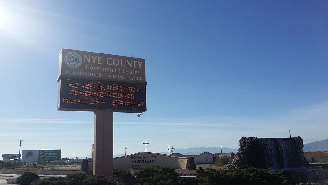 David Jacobs/Pahrump Valley Times Nye County government issued a statement July 3, providing information about veterans care.