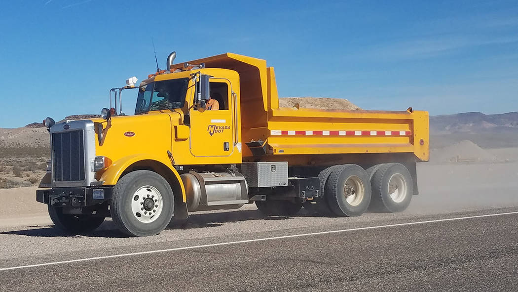 David Jacobs/Pahrump Valley Times Under a new law, Nevada drivers will have to give a wide berth to Nevada Department of Transportation vehicles under a law that extends to NDOT crews the same saf ...