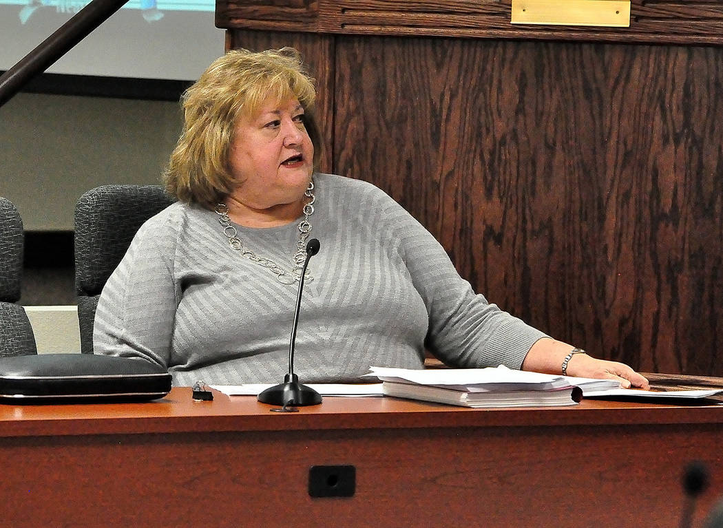 Horace Langford Jr./Pahrump Valley Times  Nye County Manager Pam Webster didn't request the renewal of her contract after it was extended for 2 years in December 2015. Part of the direction she re ...