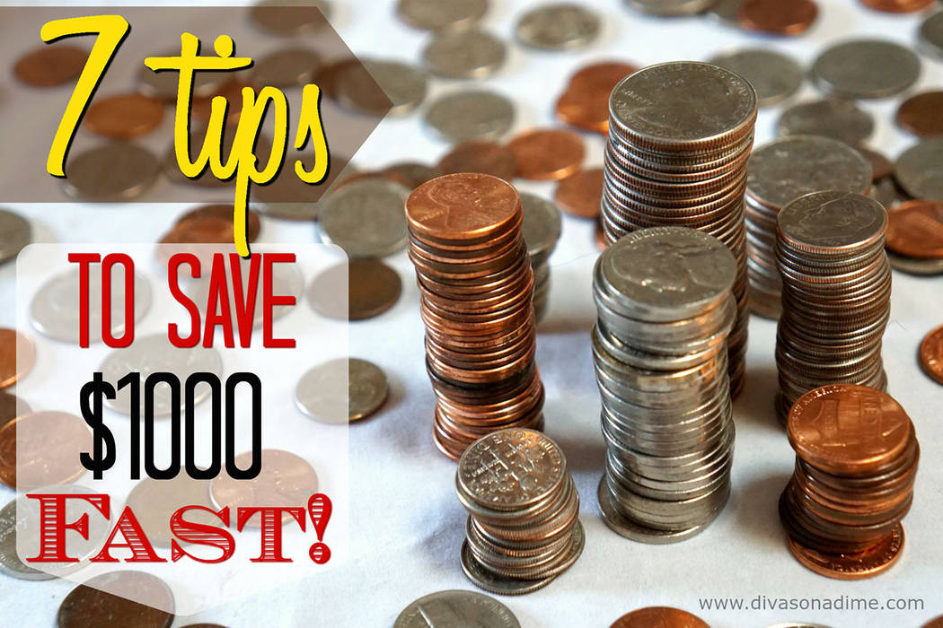 Patti Diamond/Special to the Pahrump Valley Times       Columnist Patti Diamond provides tips aimed at quickly saving $1,000. These tips fall into two categories, earn more and spend less.