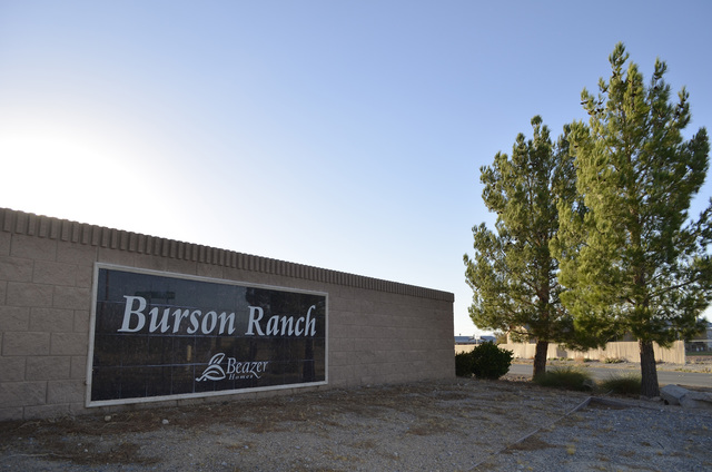 Daria Sokolova/Pahrump Valley Times Nye County commissioners postponed approving a development agreement between the county and Beazer Homes Holding Corp. for a residential subdivision in Burson R ...