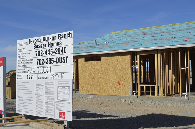 Daria Sokolova/Pahrump Valley Times Nye County commissioners approved a development agreement with Beazer Homes Holding Corp., for a residential subdivision in Burson Ranch at Tesora in Pahrump on ...