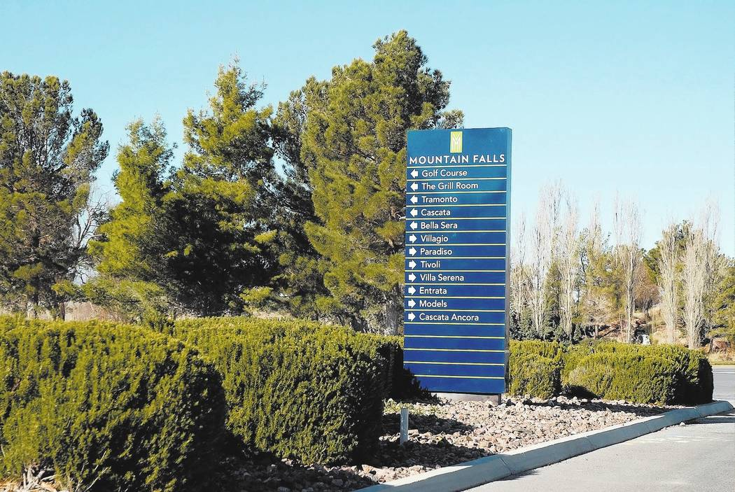 Horace Langford Jr./Pahrump Valley Times William Lyon Homes is working its way through Nye County to bring more homes to Mountain Falls. The home developer is slated to get 145 new residential lot ...