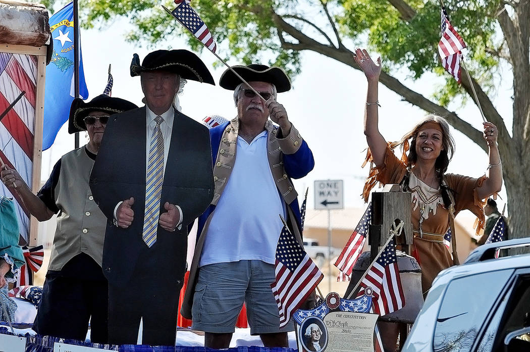 Horace Langford Jr./Pahrump Valley Times The Nye County Republican Party's float earned a trophy for Most Patriotic following Tuesday's parade.
