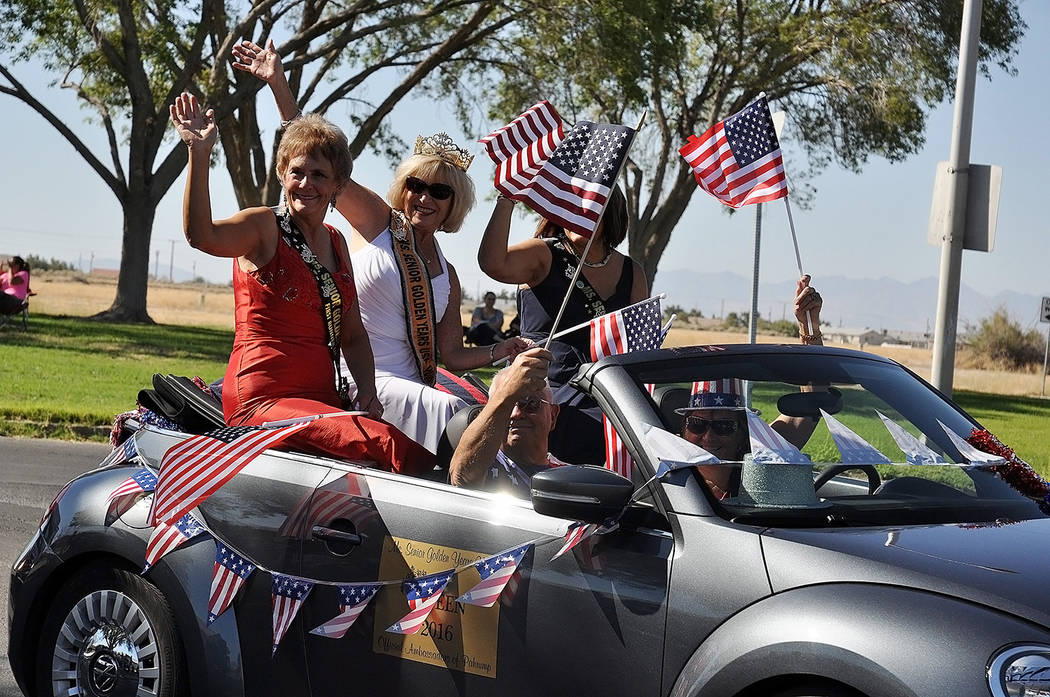Horace Langford Jr./Pahrump Valley Times- 4th of July parade, current Ms Senior Golden Years and her court.