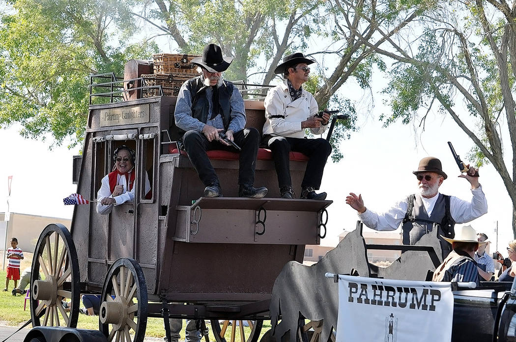 Horace Langford Jr./Pahrump Valley Times- 4th of July parade, Pahrump Gunfighters