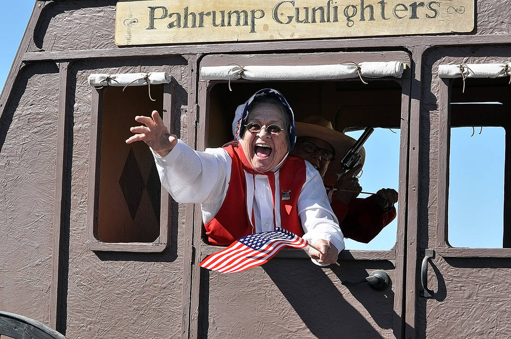 "Horace Langford Jr./Pahrump Valley Times- 4th of July parade, Pahrump Gunfighters ""Granny"""