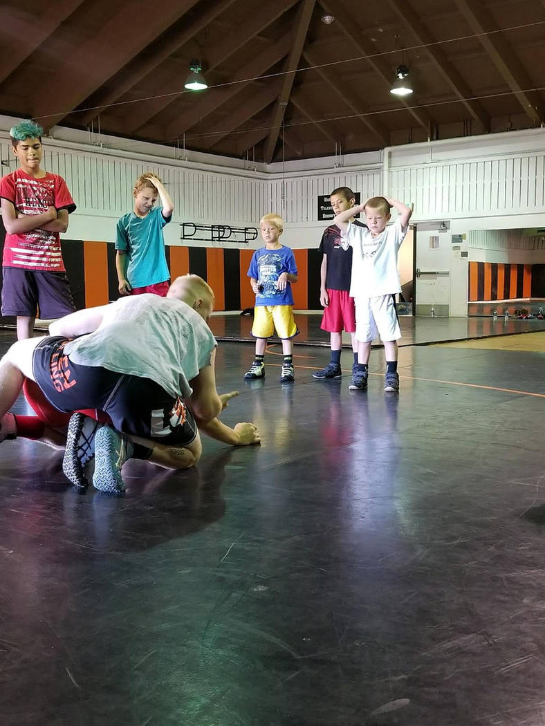 Penny Otteson/Special to the Pahrump Valley Times Tonopah wrestlers attended camps in three different states in an attempt to hone their craft. A total of 10 different kids attended camps in Calif ...